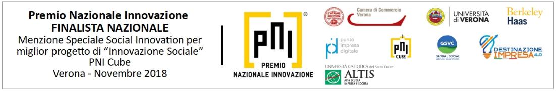 """Premio nazionale innovazione Menzione Speciale Social Innovation per il miglior progetto di """"Innovazione Sociale"""""""